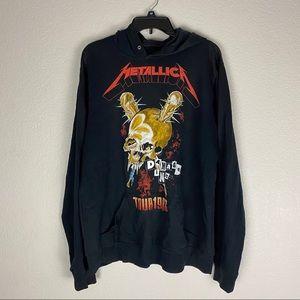 Metallica Tour Pullover Hoodie Large